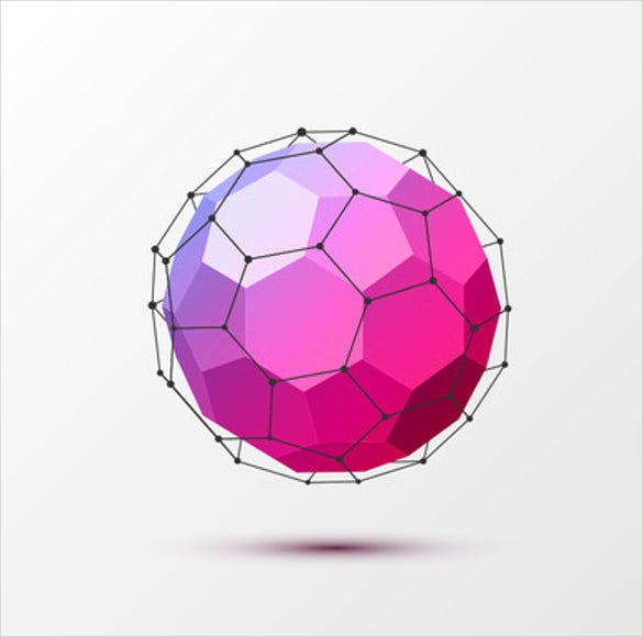 3d circular geometrical shape template