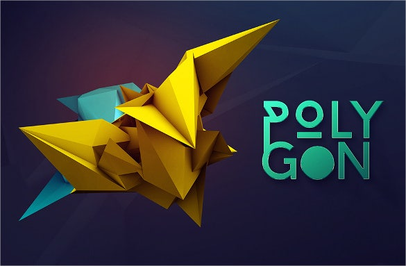 3d geometric shape polygon renders template