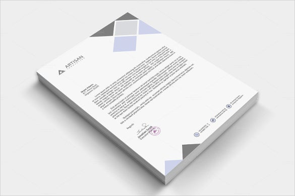 sample example of letterhead design download