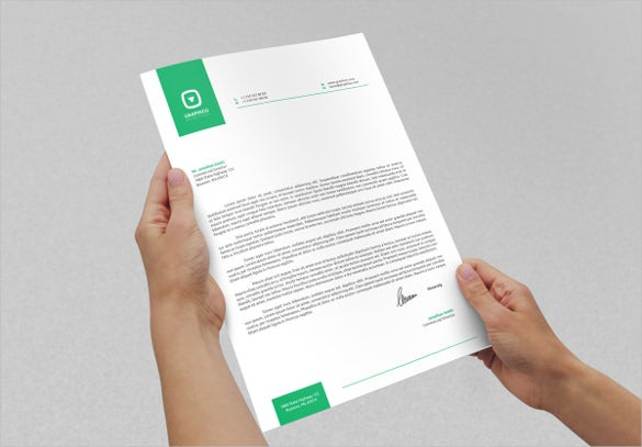 corporate letterhead design sample download