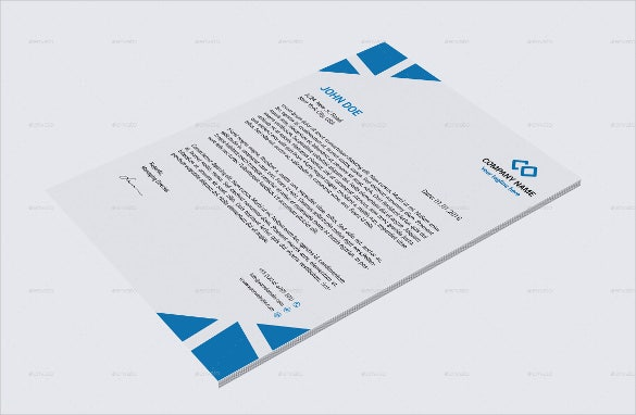 Corporate Letterhead Legal Sample Template Download