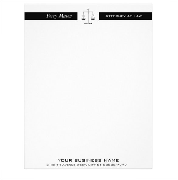 10 legal letterhead templates free sample example format 22legal scales of justice letterhead sample download altavistaventures Choice Image