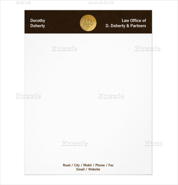 Legal Letterhead Templates  Free Sample Example Format