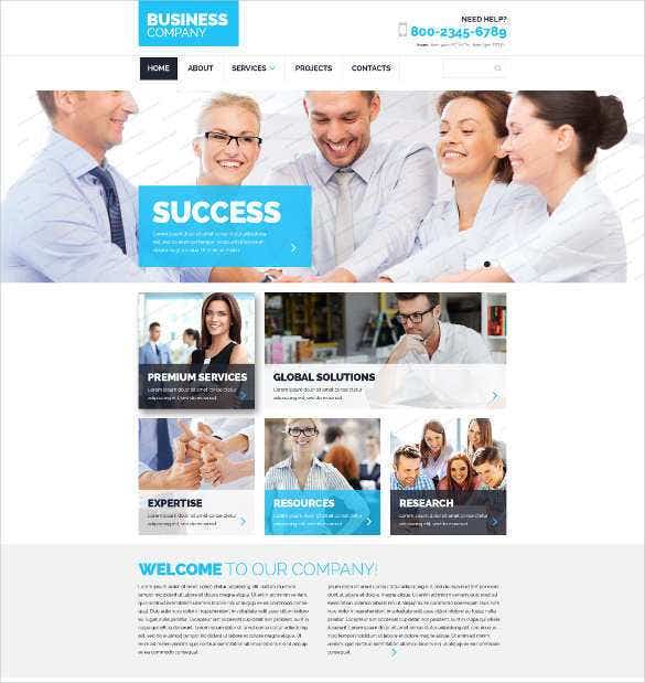 free business responsive php website template11