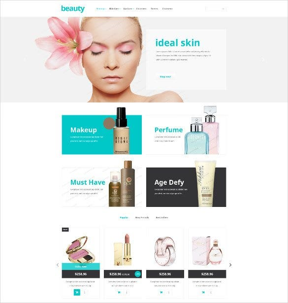 beauty store free prestashop website theme1