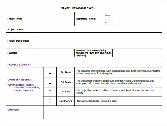 free download project status report template doc format