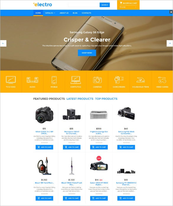 electro virtuemart ecommerce template