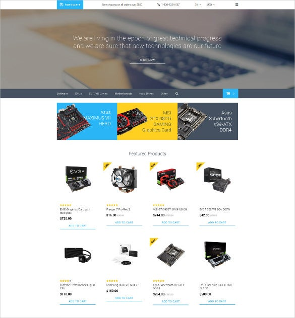 hardware opencart ecommerce template