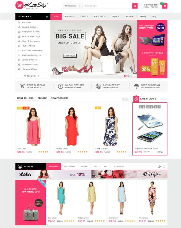kuteshop multipurpose prestashop ecommerce theme