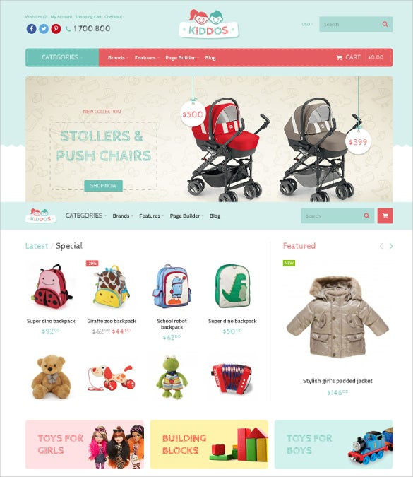 kiddos hand crafted opencart ecommerce theme