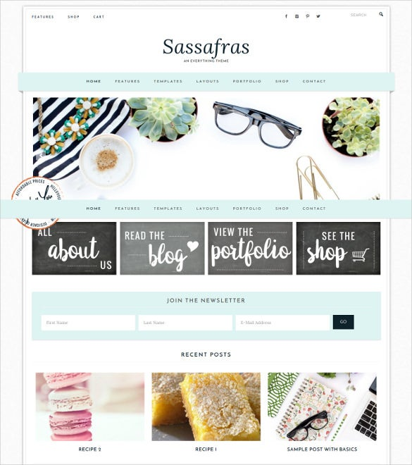 sassafras genesis wordpress ecommerce theme