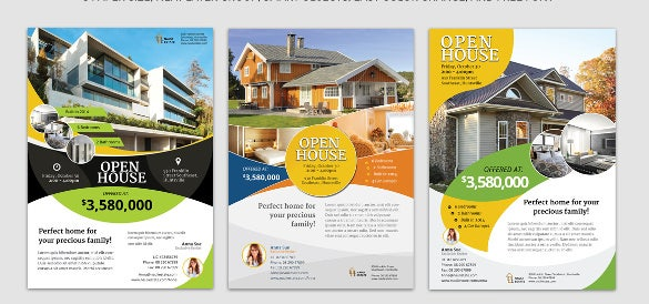 3 clean real estate a4 flyer template
