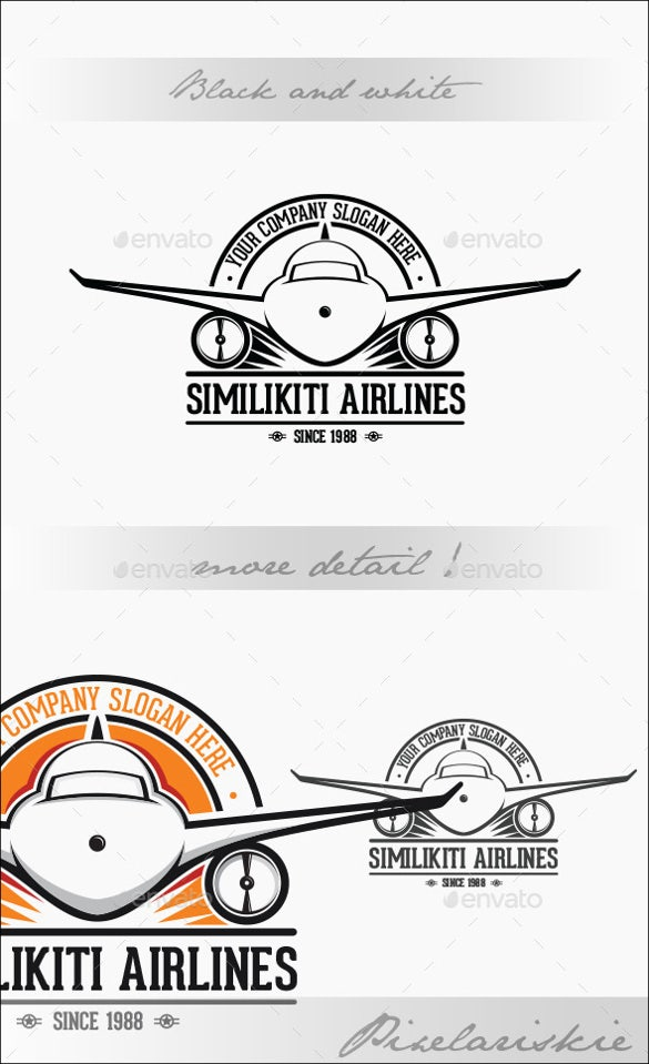 resizable airline logo template