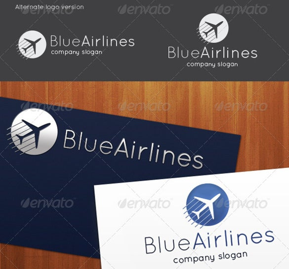 luxurious airline logo template