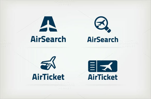 4 airline logo template