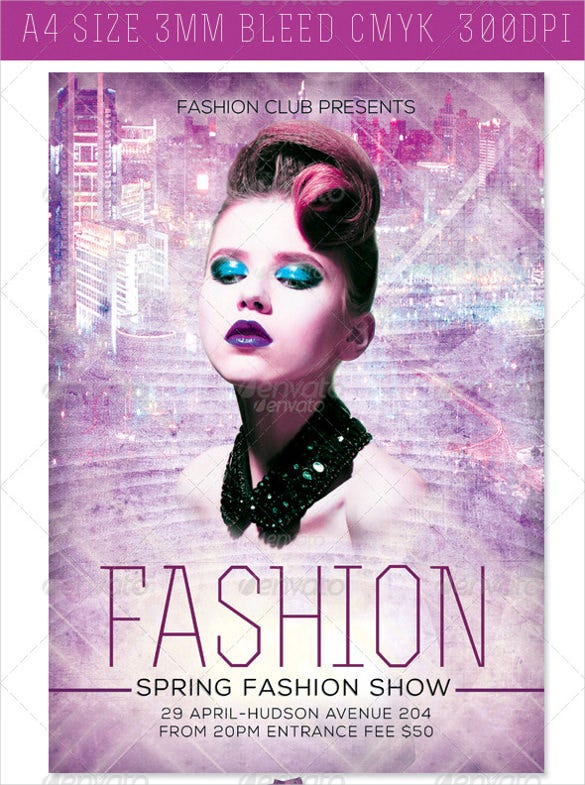 glamour based modern fashion flyer template