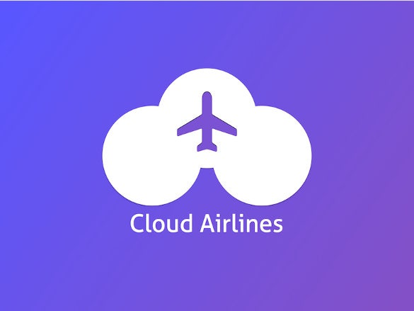 cloud airline logo template