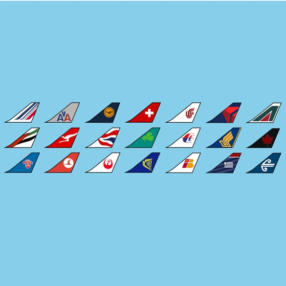 multiple airline logo