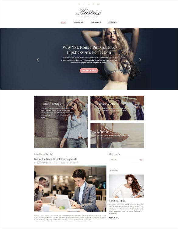 kustrix lifestyle blog wordpress theme