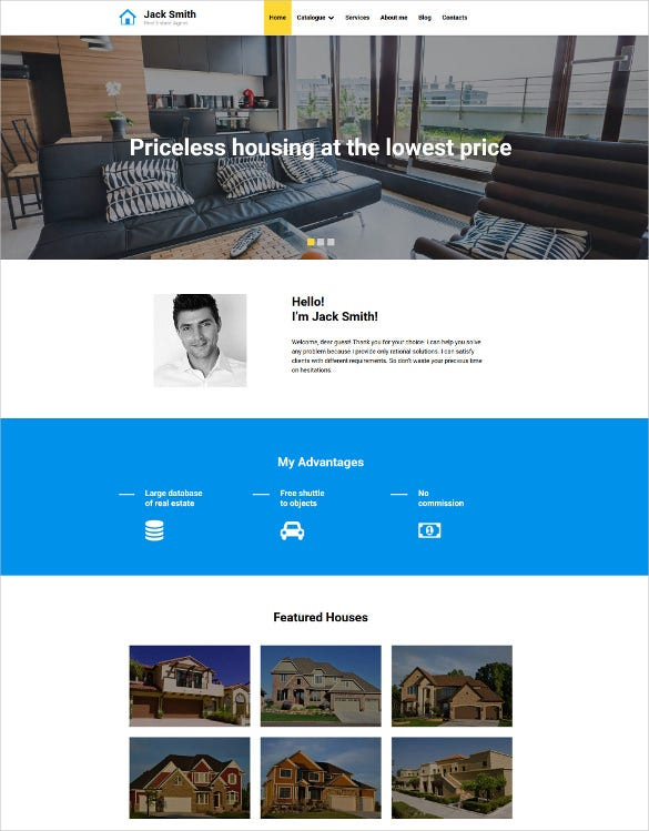 real estate agency responsive moto cms 3 blog template