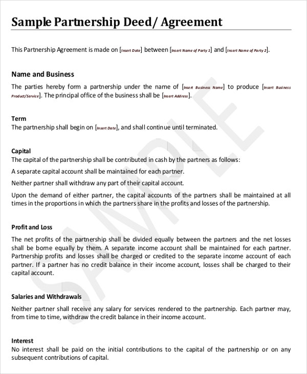 Agreement Template – 10 Free Word PDF Documents Download