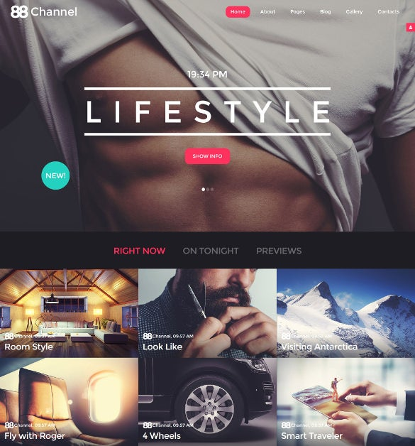88 channel joomla blog template