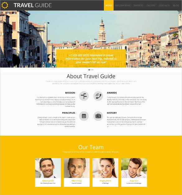 travel guide responsive moto cms 3 blog template