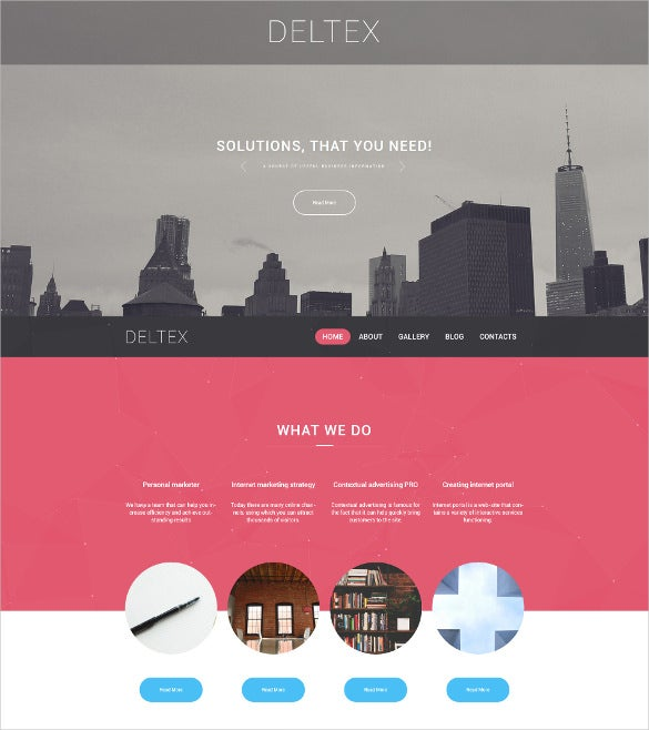 deltex wordpress blog theme