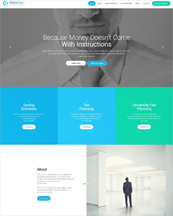 fin vertex wordpress blog theme