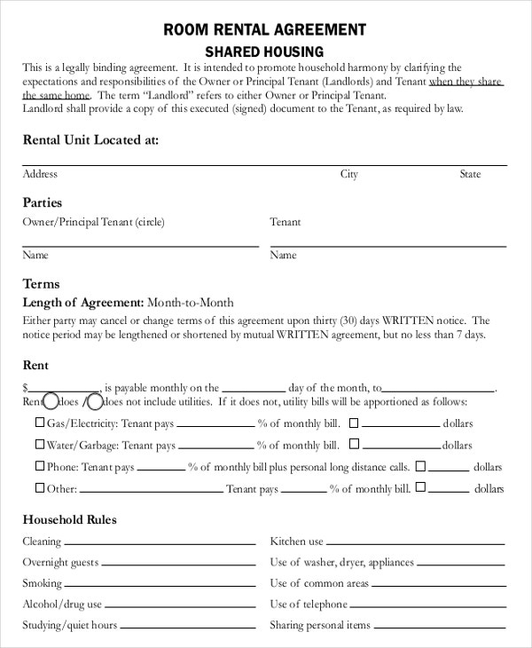 Room Measurement Template: 8+ Agreement Templates & Samples - Word, PDF