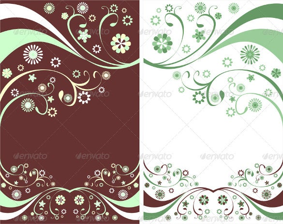 floral flyer background template