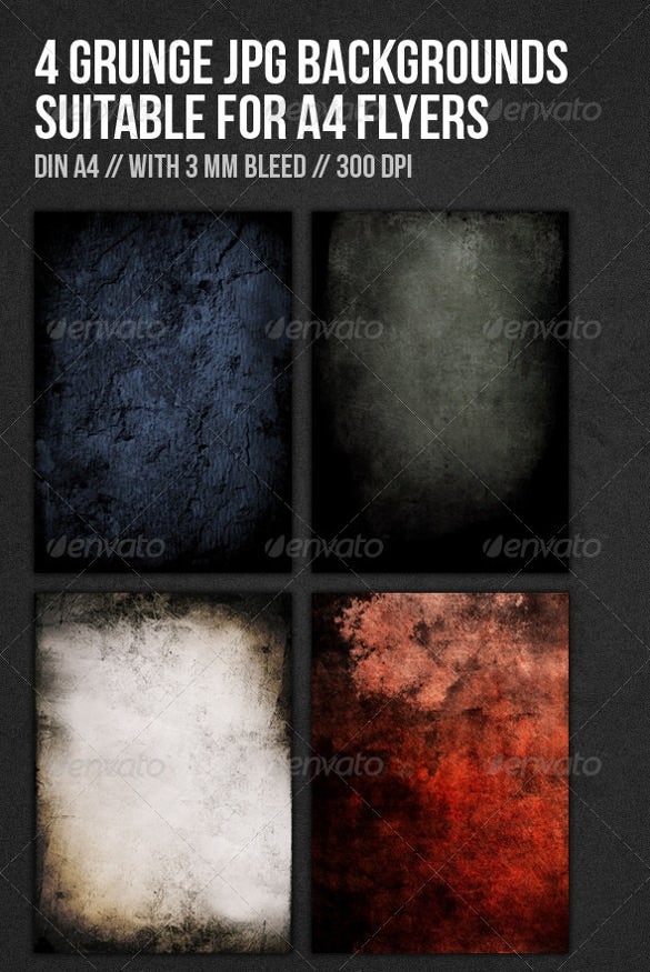 4 set of a4 size flyer background template