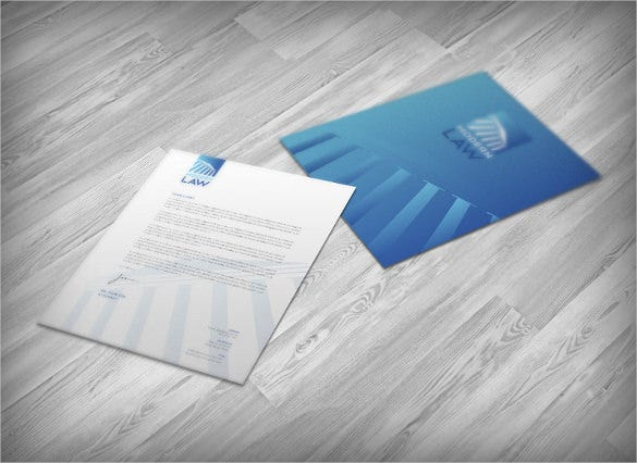 letterhead of law firm corporate identity sample template