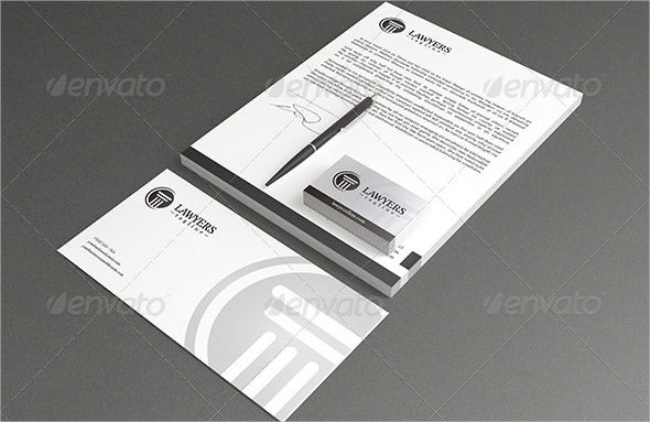 example law firm letterhead template