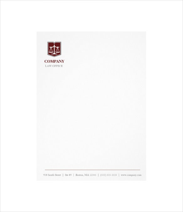 law firm professional letterhead format template