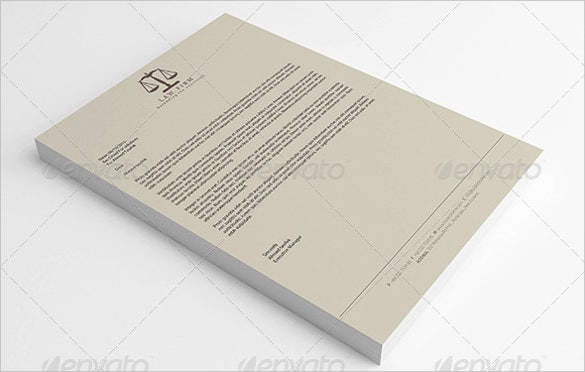 format law firm letterhead full corporate identity