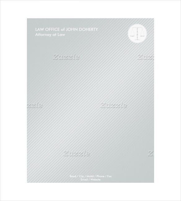 example format law firm modern letterhead