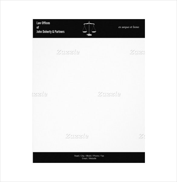 law office letterhead templates