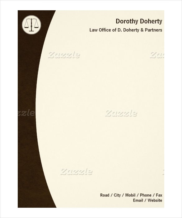 scales of justice law office firm letterhead example download