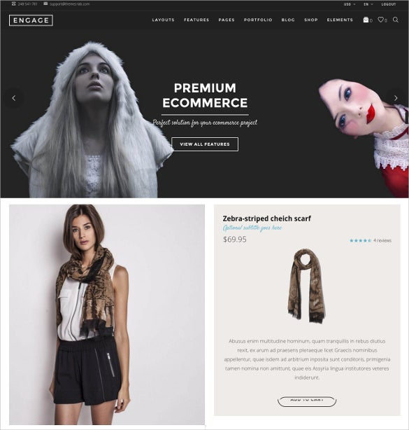 engage creative multipurpose html blog theme