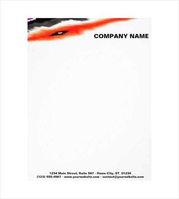 construction company customizable letterheads sample download