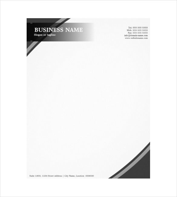 Professional Business Construction Company Example Grey Letterhead  Business Letterhead Template Free