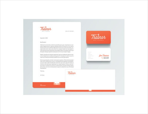 construction company format letterhead stationery