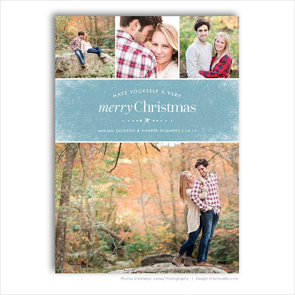 Holiday Card Template Free Printable Word PDF PSD EPS - Free christmas card templates for photographers