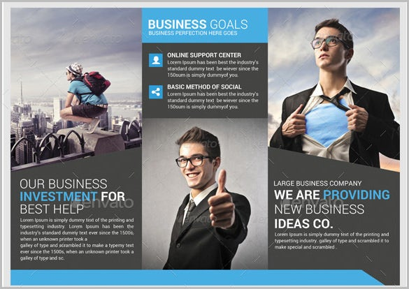 download premium business trifold brochure psd template