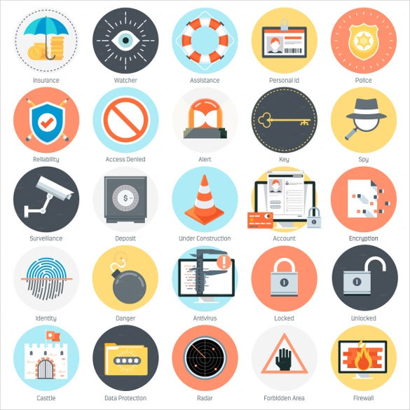 set of firewall icons download