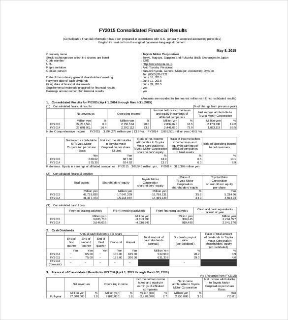 Discharge Summary Template Sample Financial Summary Report Template