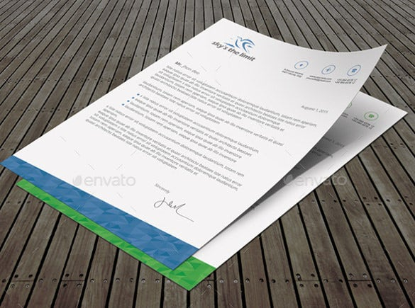 22example custom letterhead template