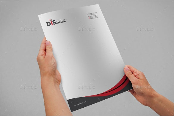 letterhead of custom sample template