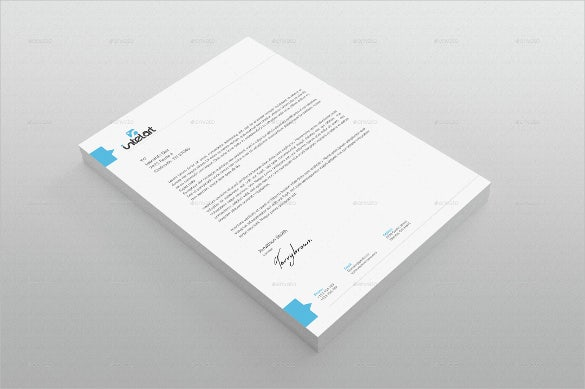 example custom letterhead template download